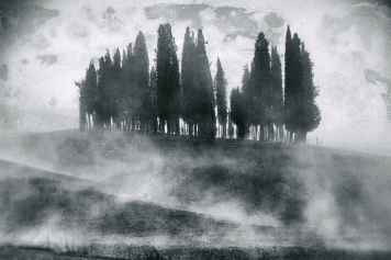 Val d'Orcia in fumo